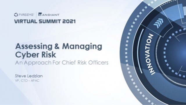 Assessing and Managing Cyber Risk : An Approach for Chief Risk Officers (CROs)