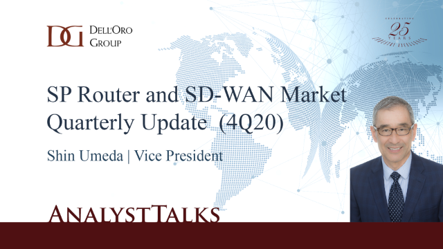 Key Takeaways - SP Router and SD-WAN Market 4Q20