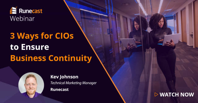3 Ways for CIOs to Ensure Business Continuity