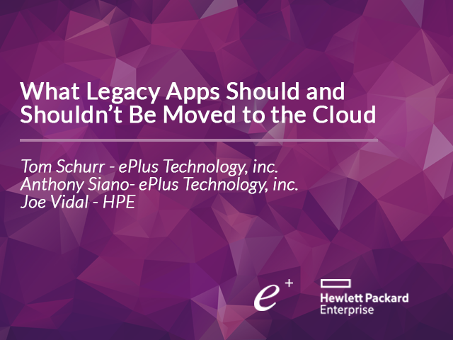 What Legacy Apps Should and Shouldn't Be Moved to the Cloud