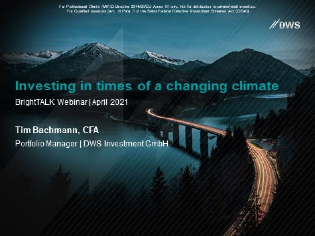 Investing in times of a changing climate