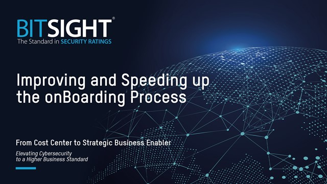 Improving and Speeding up the onBoarding Process