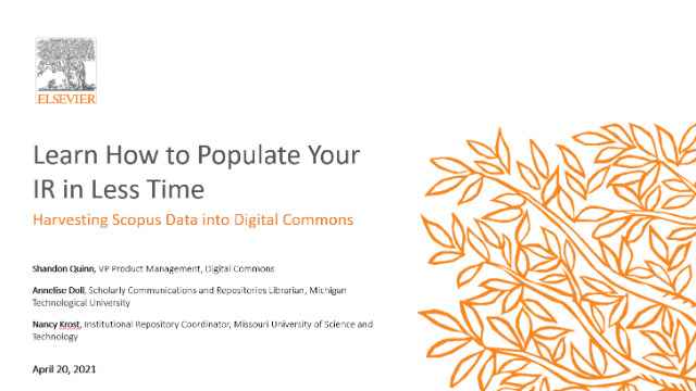 How to Populate Your IR in Less Time: Harvesting Scopus Data in Digital Commons