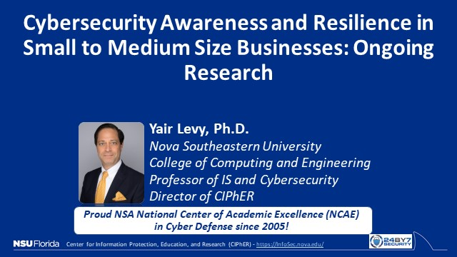 Cybersecurity Awareness and Preparedness at Small to Medium Companies - Research