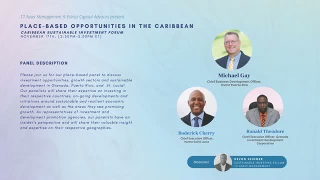 Place-based Opportunities in the Caribbean