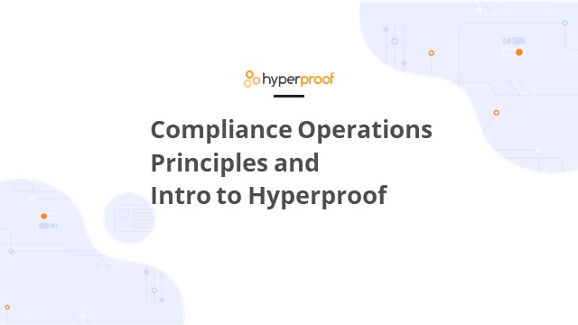 Introduction to the Compliance Operations Methodology