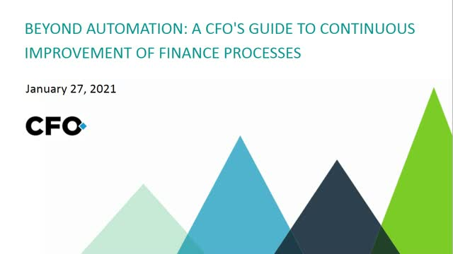 Beyond Automation: A CFO's Guide to Continuous Improvement of Finance Processes
