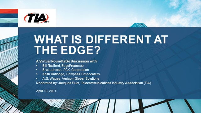 Data Centers: What is Different at the Edge?