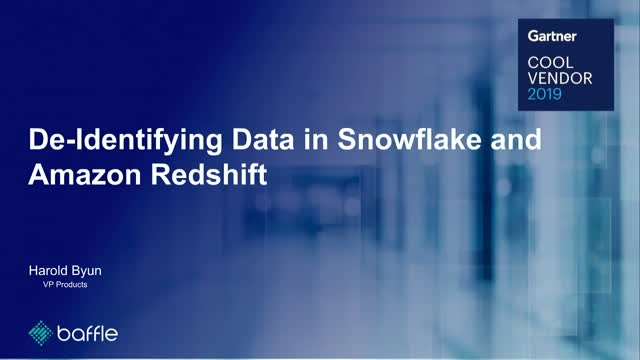 De-identifying Data in Snowflake and Amazon Redshift