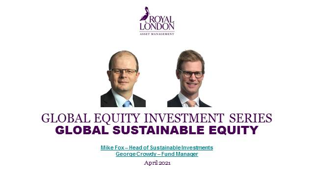 Sustainable investing with heritage - RL Global Sustainable Equity Fund