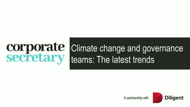 Webinar – Climate change and governance teams: The latest trends