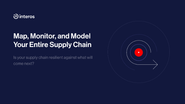 Operational Resilience Map, Monitor, and Model your Entire Supply Chain