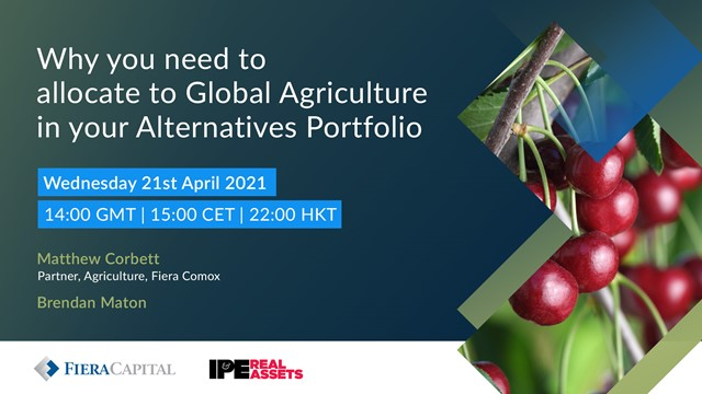 Why you need to allocate to Global Agriculture in your Alternatives Portfolio