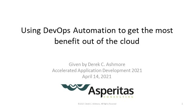 Using DevOps Automation to get the most benefit out of the cloud