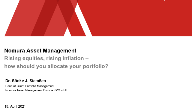 Rising Equities, rising Inflation – how should you allocate your portfolio?