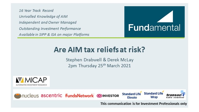 Are AIM tax reliefs at risk?