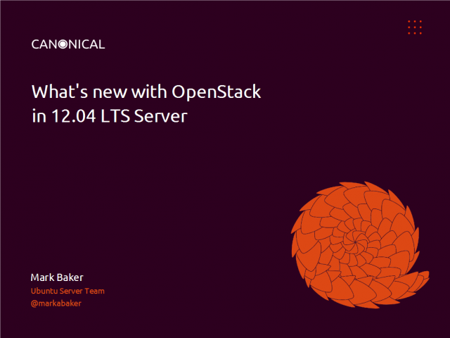 An Introduction to OpenStack cloud in Ubuntu 12.04