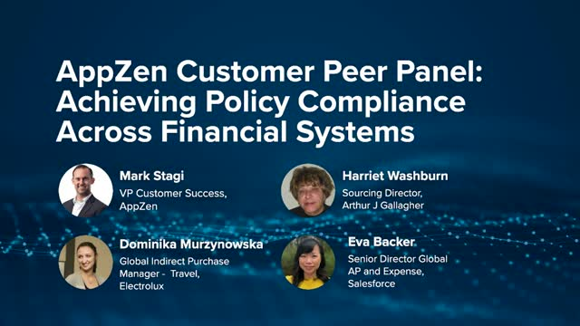 AppZen Customer Peer Panel: Achieving policy compliance across financial systems