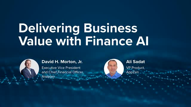 Delivering business value with finance AI