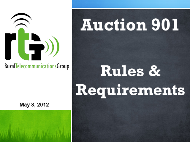 Mobility Fund Phase I Auction Procedures and Filing Requirements