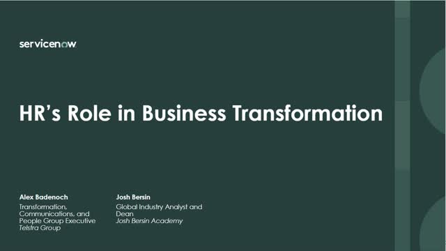 HR's Role in Business Transformation