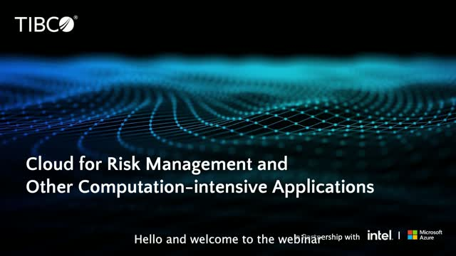 Cloud for Risk Management and Other Computation-intensive Applications