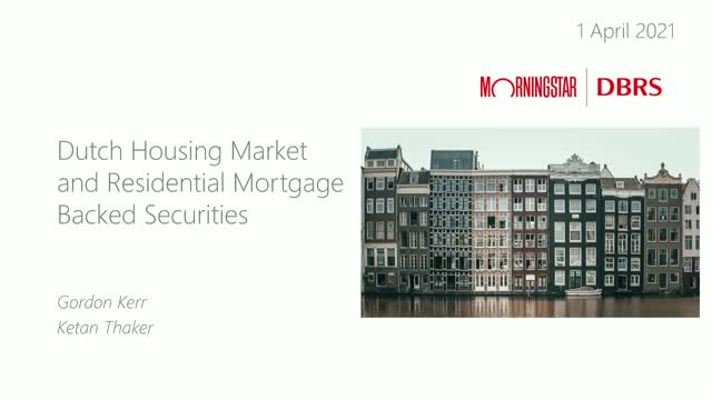 The Dutch Housing Market and Residential Mortgage-Backed Securities