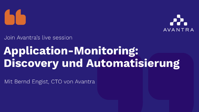 Application-Monitoring: Discovery und Automatisierung