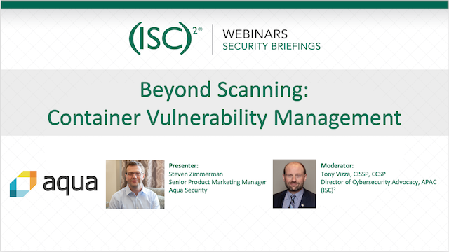 Beyond Scanning: Container Vulnerability Management