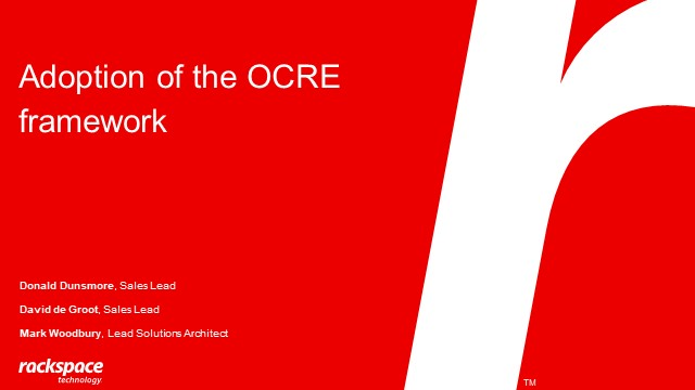 How the OCRE framework can accelerate cloud adoption in education and research