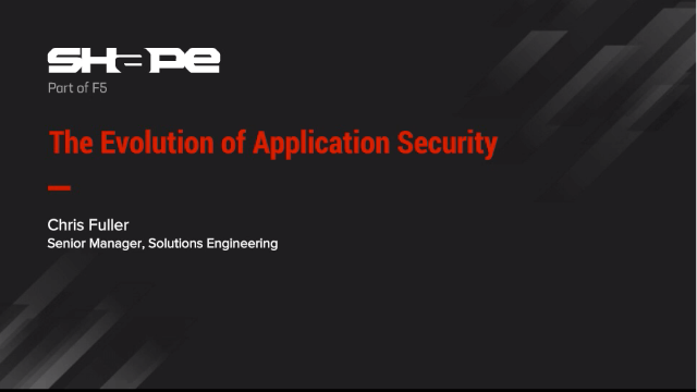 The Evolution of Application Security