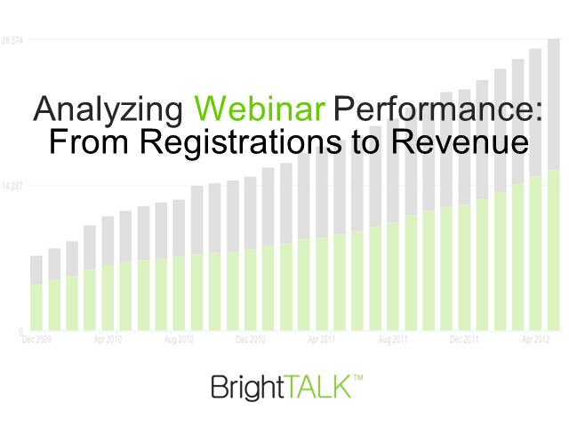 Analyzing Webinar Performance: From Registrations to Revenue