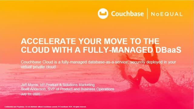 Accelerate Your Move to the Cloud with a Fully Managed DBaaS
