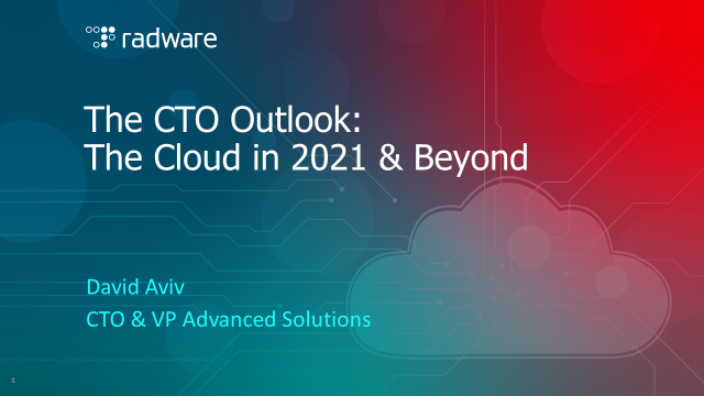 The CTO Outlook: The Cloud in 2021 & Beyond