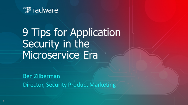 9 Tips for Application Security in the Microservice Era
