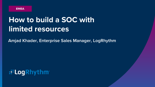 [META] How to build a SOC with limited resources