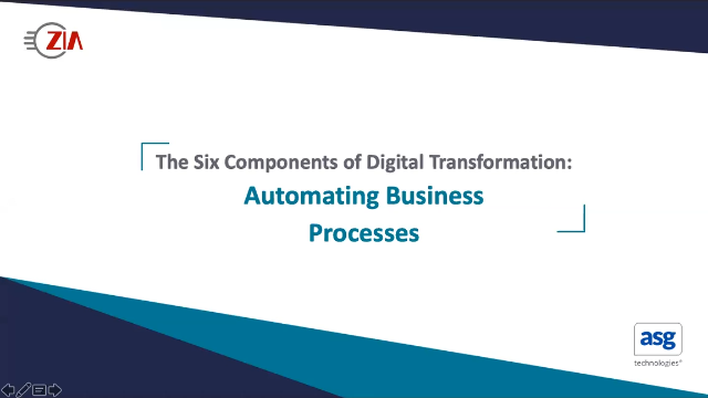 The 6 Components of Digital Transformation Series: Automating Business Processes
