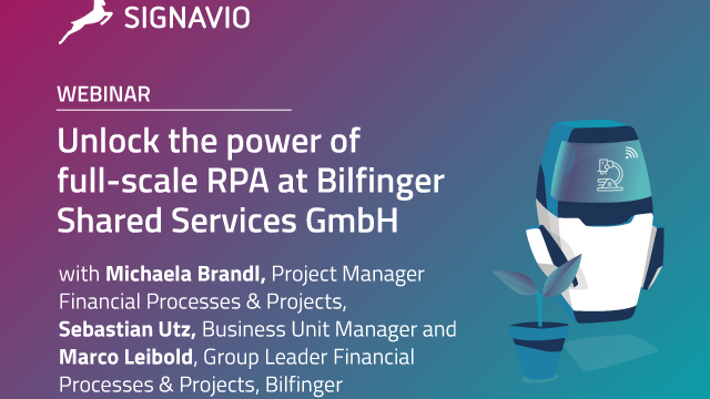 Unlock the power of full-scale RPA at Bilfinger Shared Services GmbH