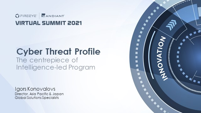 Cyber Threat Profile – The Centerpiece of Intelligence-Led Programs