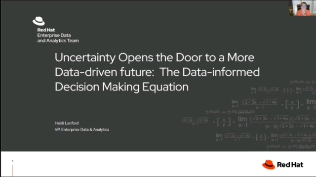 The data-informed decision making equation