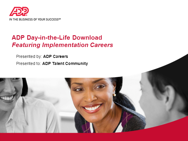 Implementation Careers at ADP