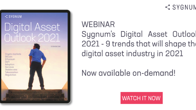 Sygnum Bank Digital Asset Outlook: 9 trends that will shape the industry in 2021