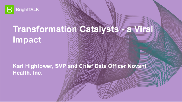Transformation Catalysts – a Viral Impact