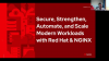 Secure, Strengthen, Automate and Scale modern workloads with  Red Hat & NGINX