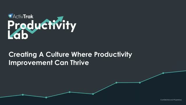 Creating a culture where productivity improvement can thrive
