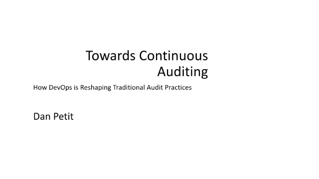 Towards Continuous Auditing: How DevOps is Reshaping Traditional Audit Practices