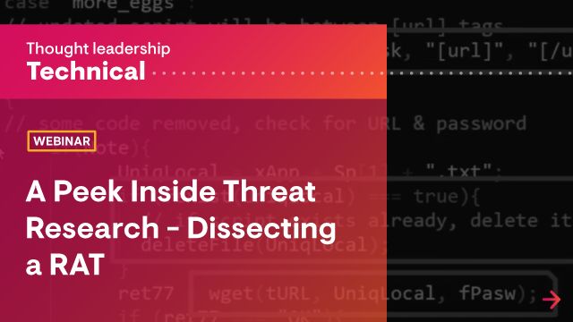 A Peek Inside Threat Research - Dissecting a RAT