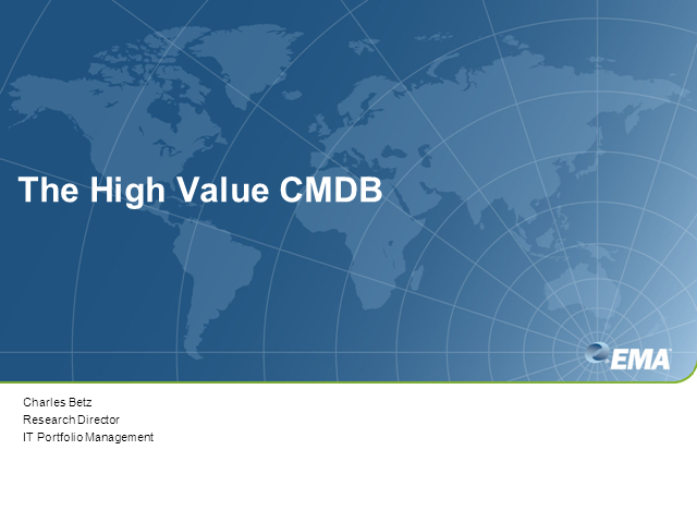The High Value CMDB