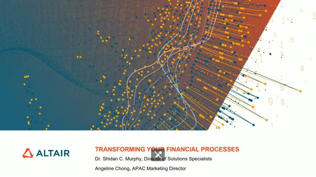 Transform your financial processes with Altair data analytics