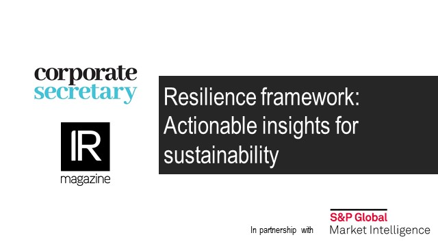 Webinar – Resilience framework: Actionable insights for sustainability